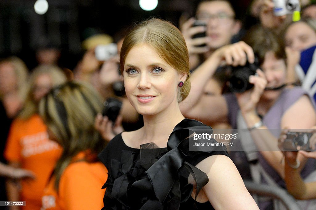 <a gi-track='captionPersonalityLinkClicked' href=/galleries/search?phrase=Amy+Adams&family=editorial&specificpeople=213938 ng-click='$event.stopPropagation()'>Amy Adams</a> attends 'The Master' Premiere during the 2012 Toronto International Film Festival at Princess of Wales Theatre on September 7, 2012 in Toronto, Canada.