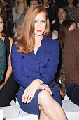 Amy Adams attends the Max Mara show during the Milan Fashion Week Womenswear Spring/Summer 2015 on September 18 2014 in Milan Italy
