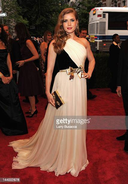 Amy Adams attends the 'Schiaparelli And Prada Impossible Conversations' Costume Institute Gala at the Metropolitan Museum of Art on May 7 2012 in New...