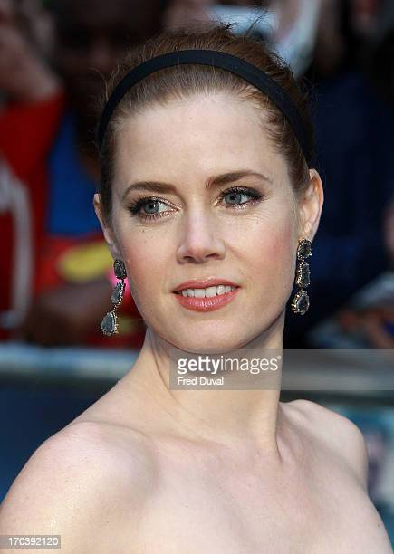 Amy Adams attends the UK film premiere of 'Man of Steel' at Odeon Leicester Square on June 12 2013 in London England