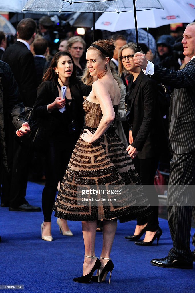 Amy Adams attends the UK Premiere of 'Man of Steel' at Odeon Leicester Square on June 12, 2013 in London, England.