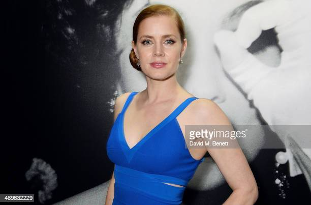 Amy Adams attends The Weinstein Co Entertainment and Pathe postBAFTA party hosted by Bulgari and Grey Goose at Rosewood London on February 16 2014 in...