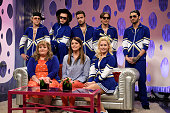 LIVE 'Amy Adams' Episode 1672 Pictured Backrow Niall Horan Harry Styles Liam Payne Louis Tomlinson and Zayn Malik of One Direction Front Row Aidy...