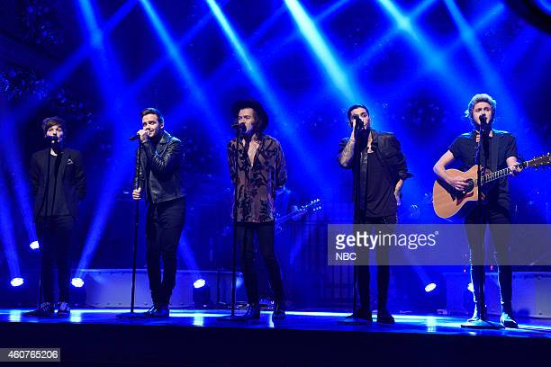 LIVE 'Amy Adams' Episode 1672 Pictured Louis Tomlinson Liam Payne Harry Styles Zayn Malik and Niall Horan of musical guest One Direction perform on...
