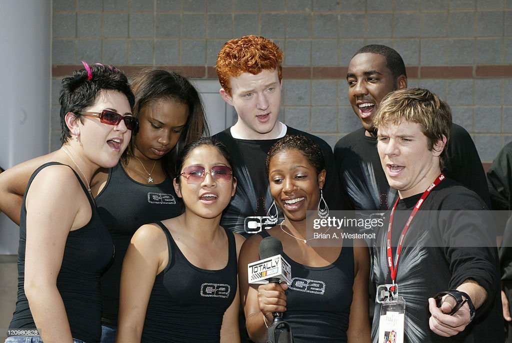 Amy Adams, Jennifer Hudson, John Stevens, George Huff, Jasmine Trias, La Toya London and Jon Peter Lewis from 'American Idol' sing for 'Totally NASCAR' during pre-race festivities for the Coca-Cola 600 at Lowe's Motor Speedway, Concord, NC, May 30, 2004.