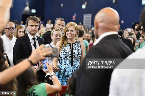 Amy Adams meets the jurors during Giffoni Film Festival 2017 on July 18 2017 in Giffoni Valle Piana Italy