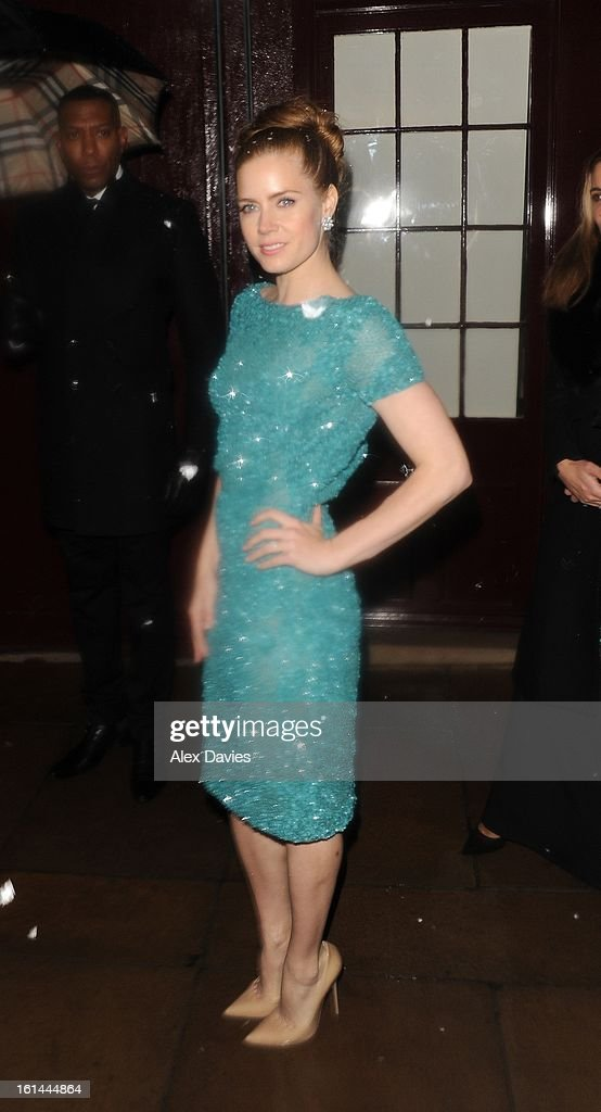 Amy Adams on February 10, 2013 in London, England.