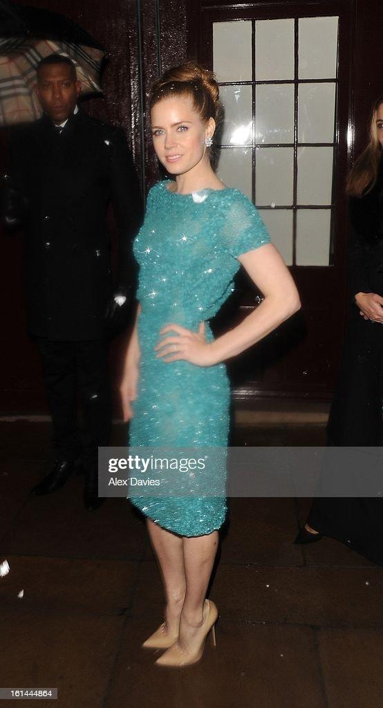 Amy Adams on February 10, 2013 in London, England.