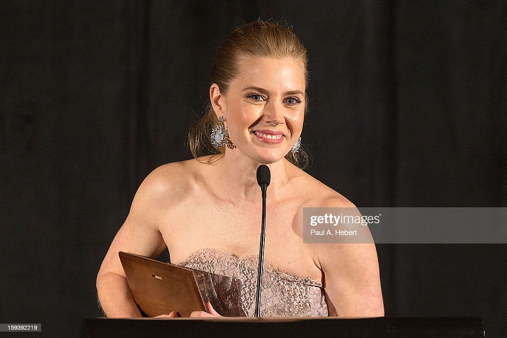 <a gi-track='captionPersonalityLinkClicked' href=/galleries/search?phrase=Amy+Adams&family=editorial&specificpeople=213938 ng-click='$event.stopPropagation()'>Amy Adams</a> receives the Best Support Actress award for 'The Master' at the 38th Annual Los Angeles Film Critics Association Awards held at the InterContinental Hotel on January 12, 2013 in Century City, California.