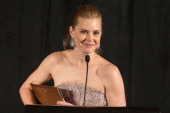 Amy Adams receives the Best Support Actress award for 'The Master' at the 38th Annual Los Angeles Film Critics Association Awards held at the...