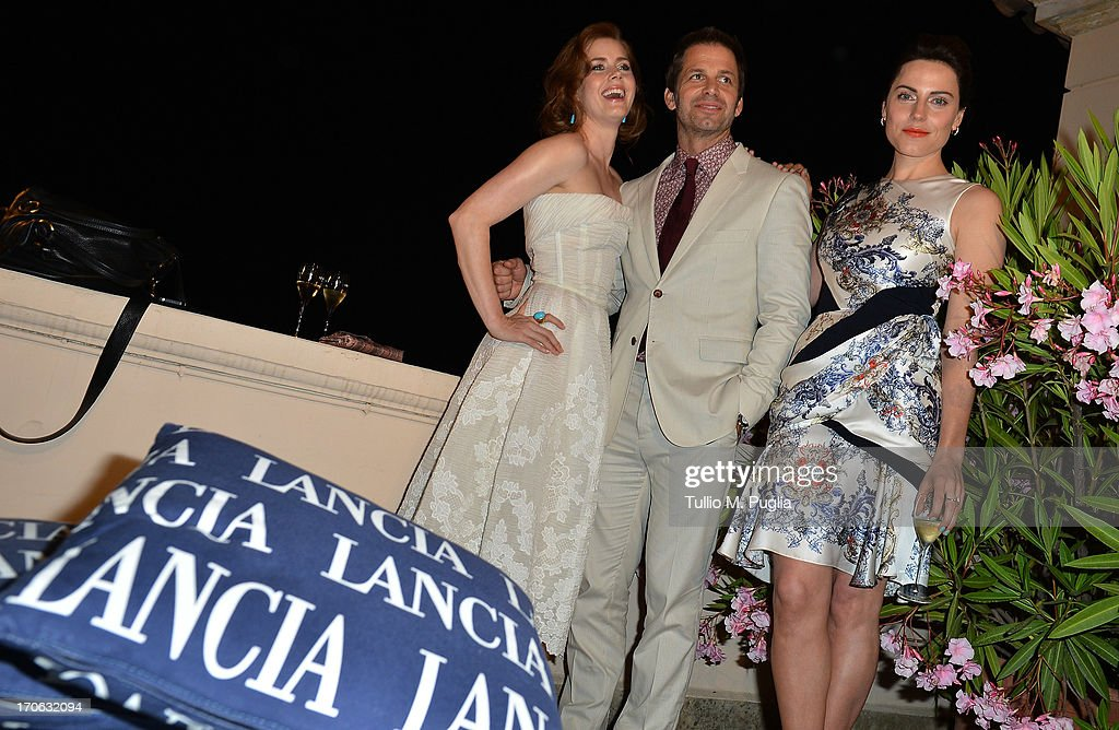 <a gi-track='captionPersonalityLinkClicked' href=/galleries/search?phrase=Amy+Adams&family=editorial&specificpeople=213938 ng-click='$event.stopPropagation()'>Amy Adams</a>, <a gi-track='captionPersonalityLinkClicked' href=/galleries/search?phrase=Zack+Snyder&family=editorial&specificpeople=834481 ng-click='$event.stopPropagation()'>Zack Snyder</a>, <a gi-track='captionPersonalityLinkClicked' href=/galleries/search?phrase=Antje+Traue&family=editorial&specificpeople=5708813 ng-click='$event.stopPropagation()'>Antje Traue</a> attend the Lancia Cafe during the Taormina Filmfest 2013 on June 15, 2013 in Taormina, Italy.