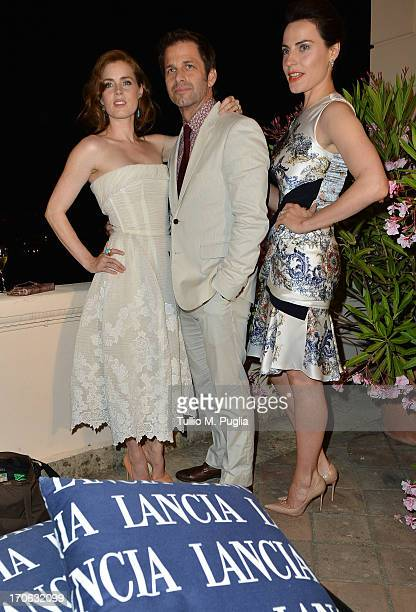 Amy Adams Zack Snyder Antje Traue attend the Lancia Cafe during the Taormina Filmfest 2013 on June 15 2013 in Taormina Italy