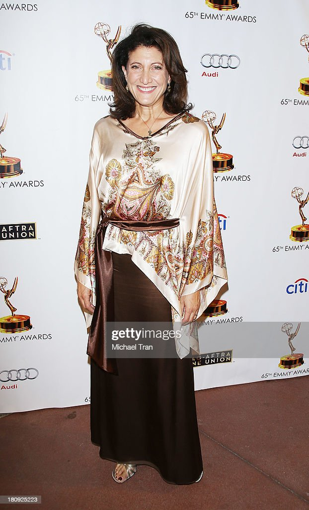<a gi-track='captionPersonalityLinkClicked' href=/galleries/search?phrase=Amy+Aquino&family=editorial&specificpeople=871759 ng-click='$event.stopPropagation()'>Amy Aquino</a> arrives at The Academy of Television Arts & Sciences and SAG-AFTRA celebrate The 65th Primetime Emmy Award Nominees held at Academy of Television Arts & Sciences on September 17, 2013 in North Hollywood, California.