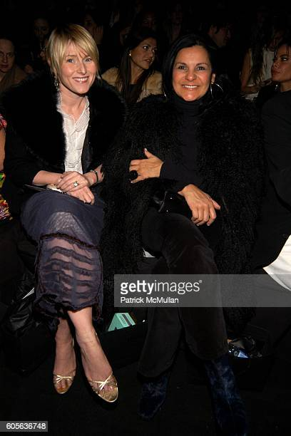 Amy Astley and Candy Pratts Price attend Vera Wang Fall 2006 Fashion Show at The Tent at Bryant Park on February 9 2006 in New York City