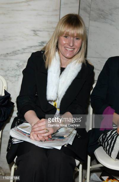 Amy Astley during Olympus Fashion Week Fall 2005 Jill Stuart Front Row and Backstage at Astor Hall New York Public Library in New York City New York...