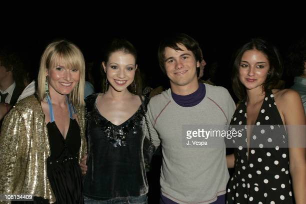 Amy Astley editorinchief of Teen Vogue Michelle Trachtenberg Jason Ritter and Caroline D'Amore