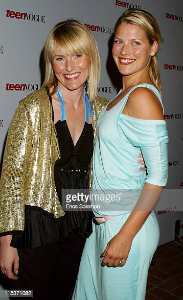 Amy Astley editorinchief of Teen Vogue with Ali Larter