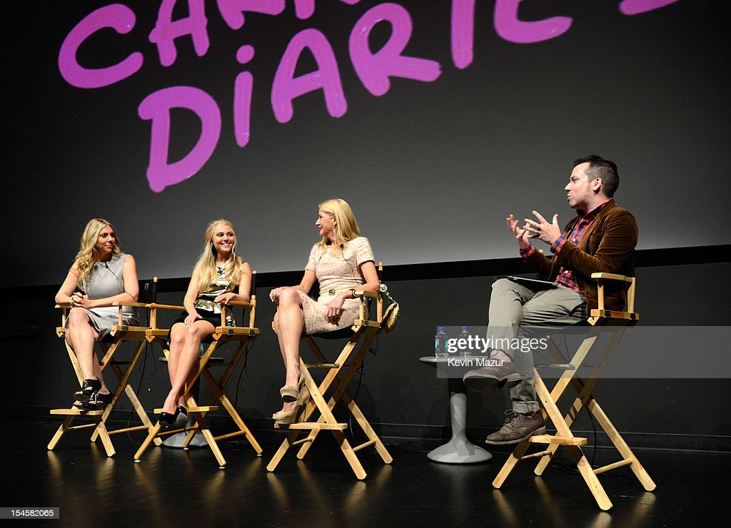 Amy B Harris, AnnaSophia Robb, Candace Bushnell and Entertainment Weekly's Tim Stack attend the world premiere of 'The Carrie Diaries' at the New York Television Festival at SVA Theater on October 22, 2012 in New York City.
