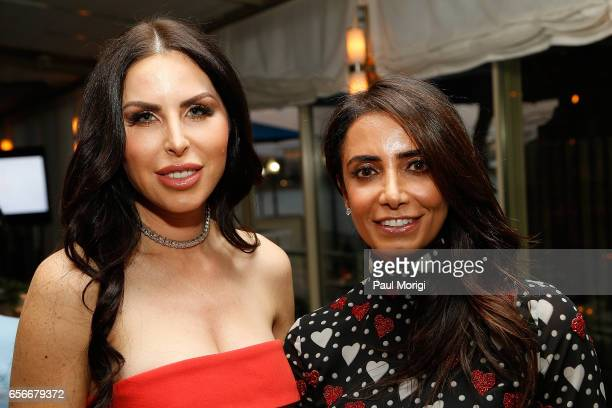 Amy Baier and Abeer Al Otaiba attend ELLE and Bottega Veneta Women in Washington dinner hosted by Robbie Myers ELLE EditorinChief at Fiola Mare on...