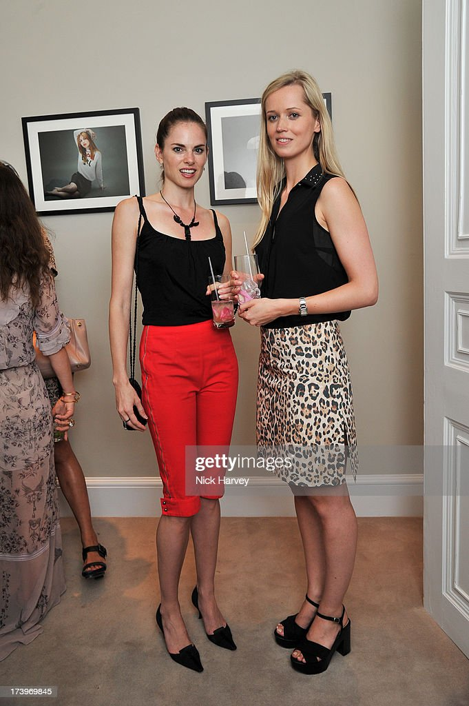 Amy Bailey and Camilla Baring attend MATCHESFASHION.COM Partners With Rika On 'Iron Girl' Project For Rika Magazine on July 18, 2013 in London, England.