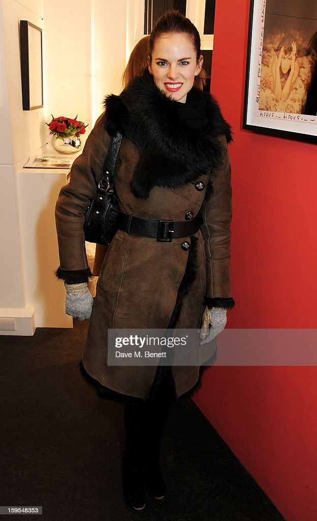 Amy Bailey attends a private view of 'Bruno Bisang: 30 Years Of Polaroids' at The Little Black Gallery on January 15, 2013 in London, England.