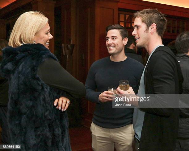 Amy Baker and guest attend the GOOGLE HOME Super Crispy Films celebrate 'Sidney Hall' at the home of Barry Amy Baker on January 24 2017 in Park City...