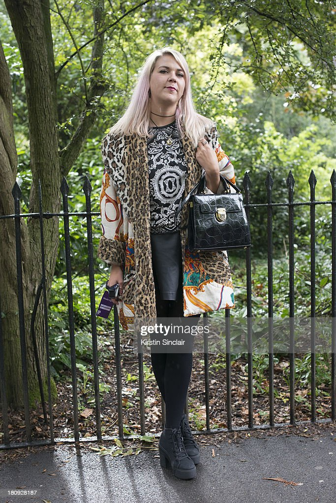 Amy Baynard on day 5 of London Fashion Week Spring/Summer 2013, at Somerset House on September 17, 2013 in London, England.
