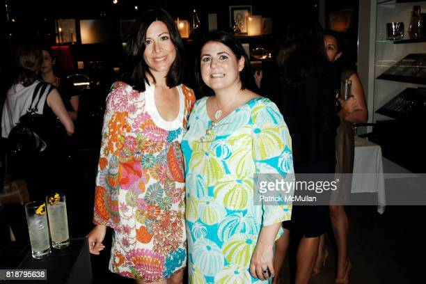 Amy Beal and Mary Beth Adelson attend GEORG JENSEN Platinum Jewels in Bloom Cocktail Reception at Georg Jensen on April 8 2010 in New York City