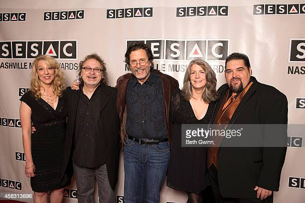 Amy Beth Hale Don Henry Jon Vezner Kathy Mattea and Tim Fink attend the 2014 SESAC Nashville Awards at the Country Music Hall of Fame and Museum on...