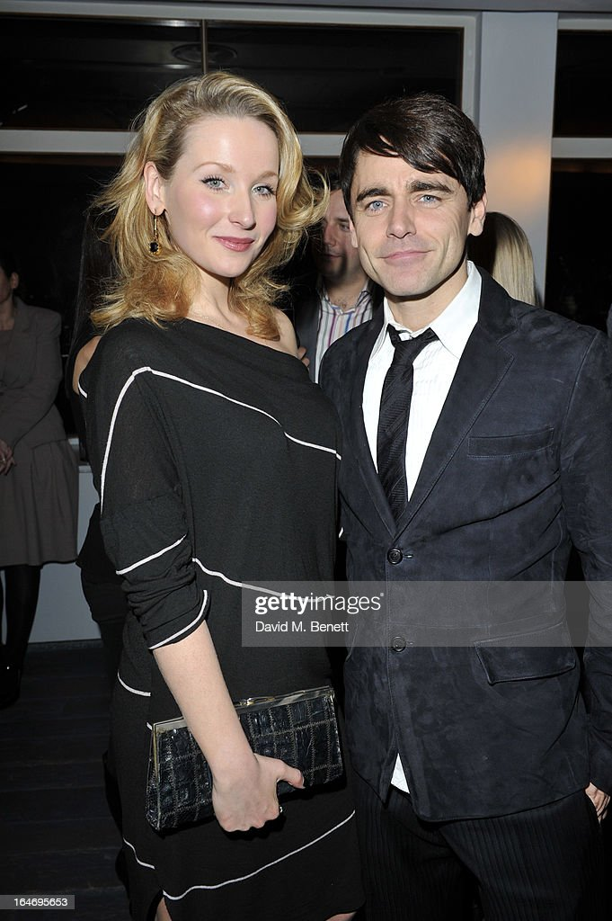 Amy Beth Hayes and Ryan Molloy attend the Jersey Boys 5th anniversary performance after party at the Paramount Club on March 26, 2013 in London, England.
