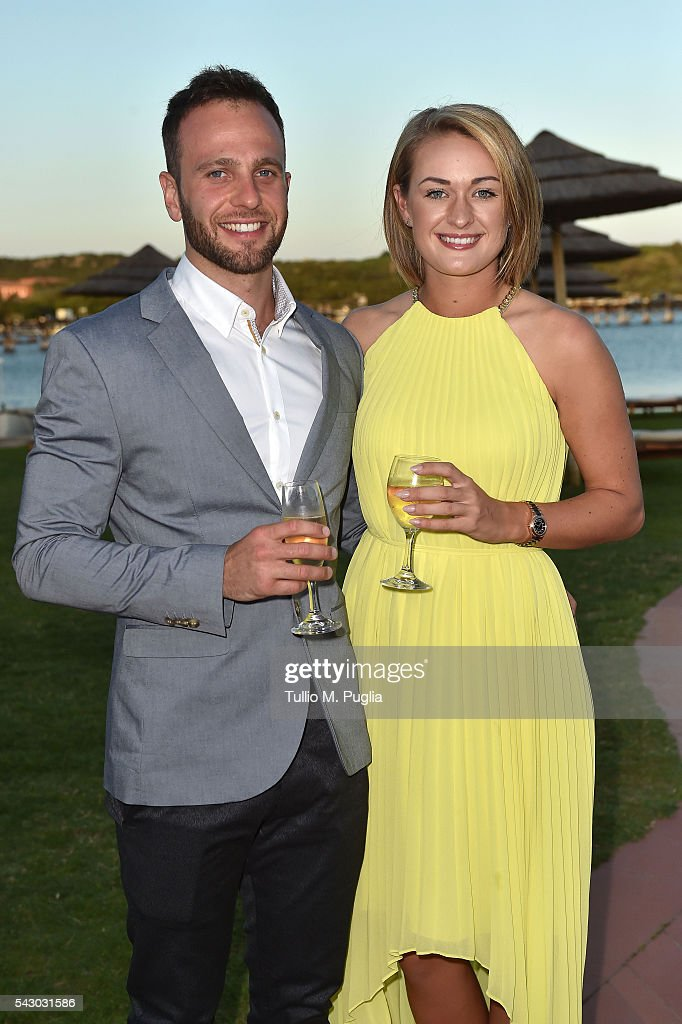 Amy Boulden and Wesley Jones attend the Gala Dinner during The Costa Smeralda Invitational golf tournament at Pevero Golf Club - Costa Smeralda on June 25, 2016 in Olbia, Italy.