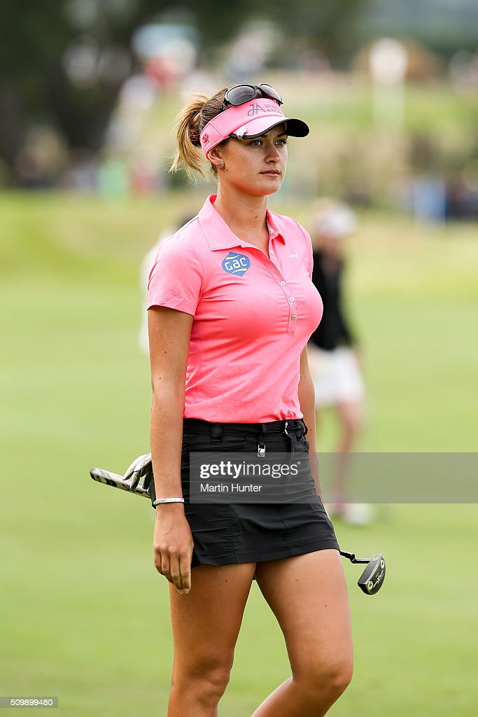 <a gi-track='captionPersonalityLinkClicked' href=/galleries/search?phrase=Amy+Boulden&family=editorial&specificpeople=7121690 ng-click='$event.stopPropagation()'>Amy Boulden</a> of Wales walks down the 18th fairway during the 2nd round of the New Zealand Women's Open at Clearwater Golf Club on February 13, 2016 in Christchurch, New Zealand.