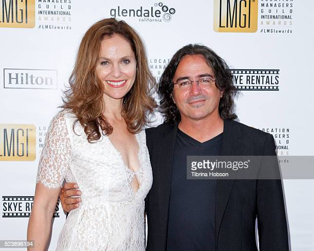 Amy Brenneman and Brad Silberling attend the 3rd annual Location Managers Guild International Awards at The Alex Theatre on April 23 2016 in Glendale...