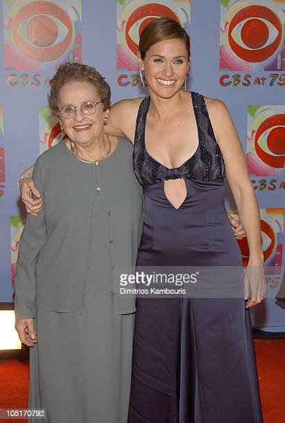 Amy Brenneman and her mother during CBS at 75 at Hammerstein Ballroom in New York City New York United States
