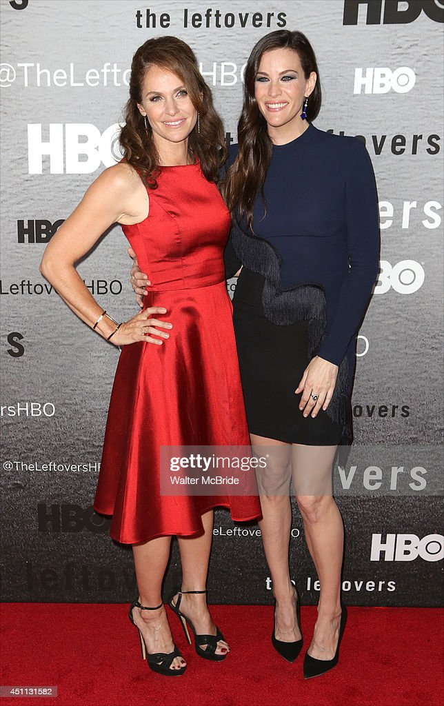 Amy Brenneman and Liv Tyler attend 'The Leftovers' premiere at NYU Skirball Center on June 23, 2014 in New York City.
