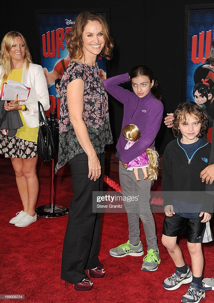 Amy Brenneman arrives at the 'Wreck It Ralph' - Los Angeles Premiere at the El Capitan Theatre on October 29, 2012 in Hollywood, California.