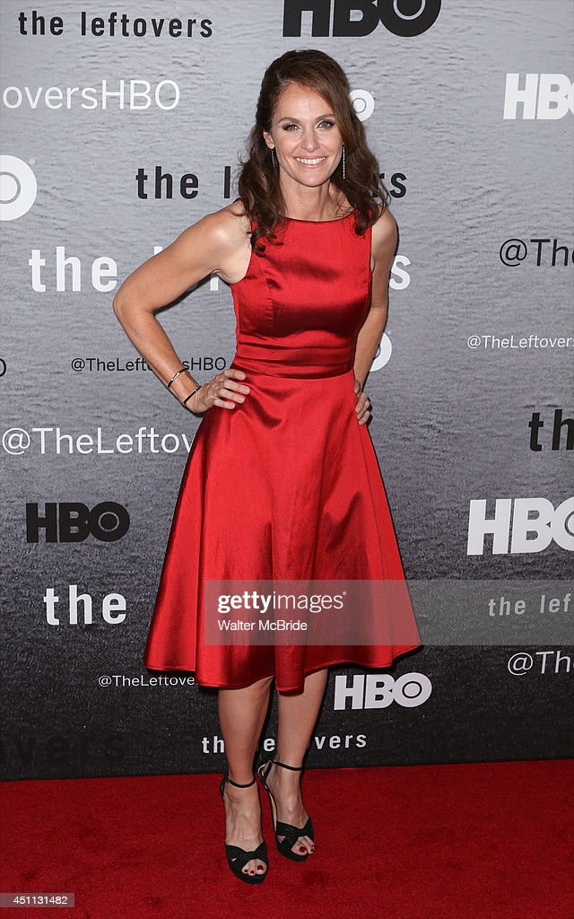 Amy Brenneman attends 'The Leftovers' premiere at NYU Skirball Center on June 23, 2014 in New York City.