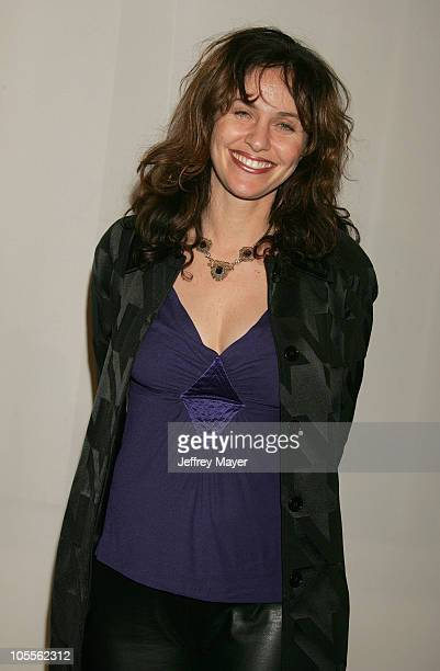 Amy Brenneman during CBS and UPN 2005 TCA Party Arrivals at Quixote Studios in Los Angeles California United States
