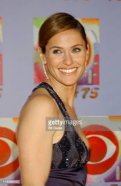 Amy Brenneman during CBS at 75 Commemorating CBS'S 75th Anniversary Arrivals at The Hammerstein Theater in New York City New York United States