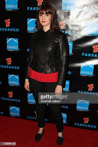 Amy C Newbold attends the Summit Entertainment's ComicCon Red Carpet Press Event ComicCon International 2013 at Hard Rock Hotel San Diego on July 18...