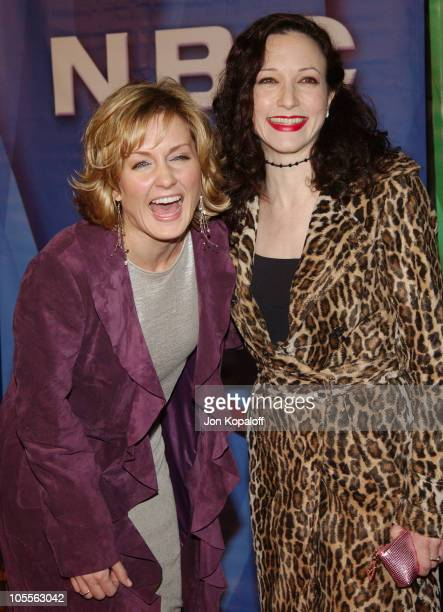 Amy Carlson and Bebe Neuwirth during 2005 NBC Winter TCA All Star Party at Hard Rock Cafe in Universal City California United States