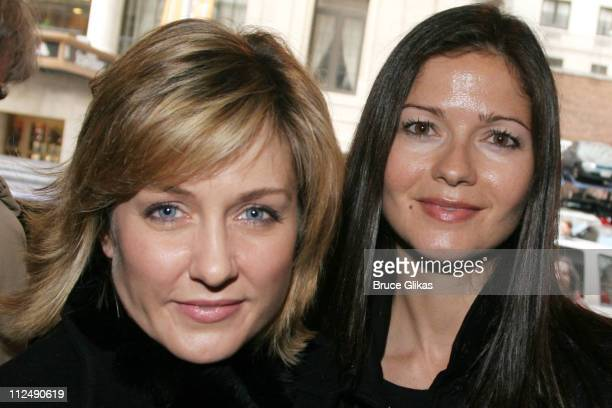 Amy Carlson and Jill Hennessy during Jerry Orbach Memorial Celebration at The Richard Rogers Theater in New York City New York United States