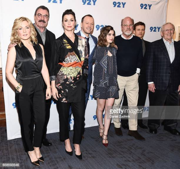 Amy Carlson Tom Selleck Bridget Moynahan Donnie Wahlberg Sami Gayle Kevin Wade Will Estes and Len Cariou attend the Blue Bloods 150th episode...