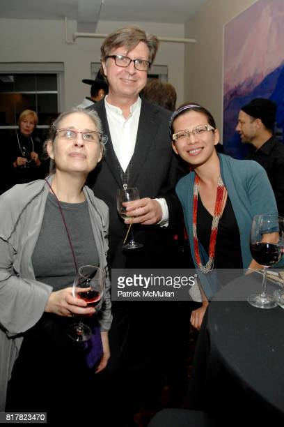 Amy Cherry William Avery Hudson and Niki Lin attend OLDMAN'S BRAVE NEW WORLD OF WINE Book Launch Hosted by W W Norton and Mark Oldman at Residence of...