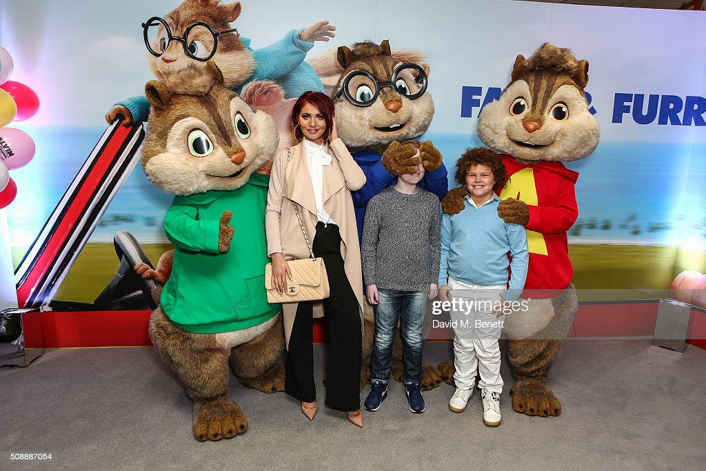 <a gi-track='captionPersonalityLinkClicked' href=/galleries/search?phrase=Amy+Childs&family=editorial&specificpeople=7306054 ng-click='$event.stopPropagation()'>Amy Childs</a> and children attend a Gala Screening of 'Alvin & The Chipmunks: The Road Chip' at Vue West End on February 7, 2016 in London, England.