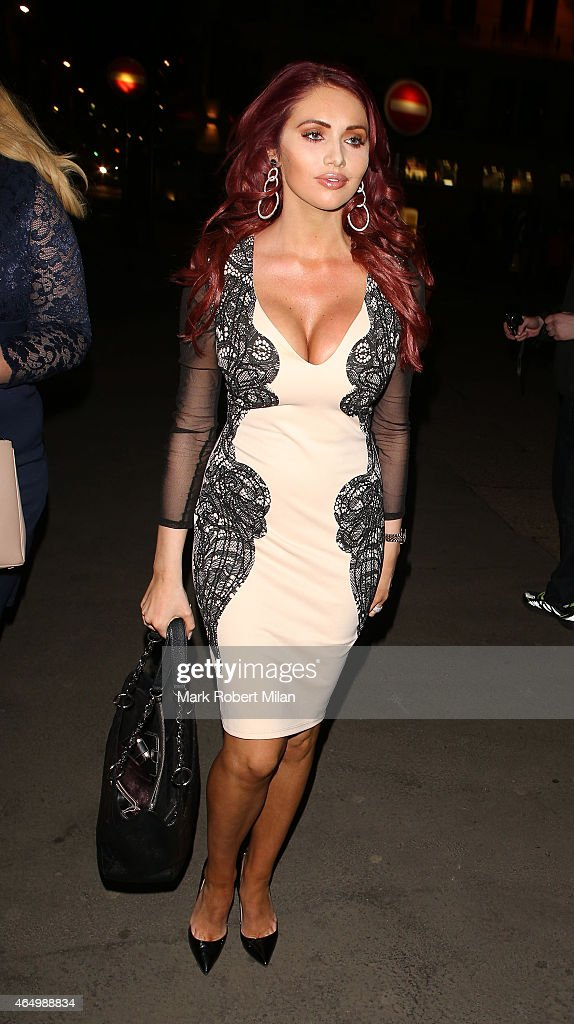 Amy Childs and Gemma Collins attending The Sun Bizarre Party at Steam and Rye on March 2 2015 in London England