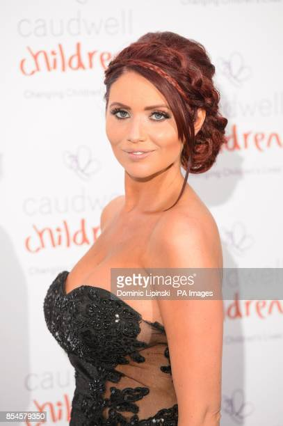 Amy Childs arriving at the Caudwell Children Butterfly Ball at the Grosvenor House hotel in central London