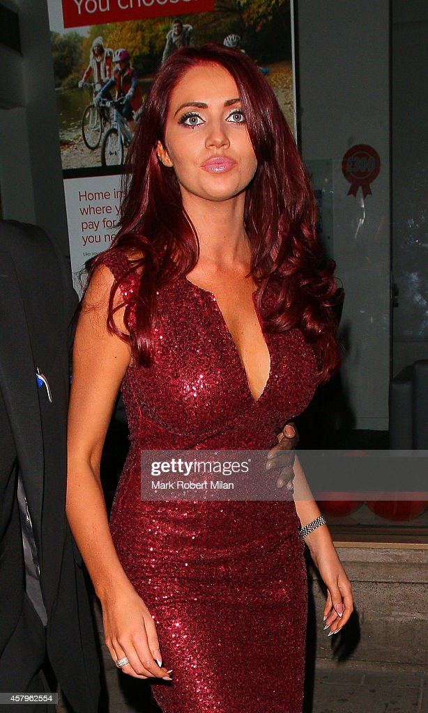 Amy Childs attending the Amy Childs clothing collection party at Dirty Martini on October 27 2014 in London England