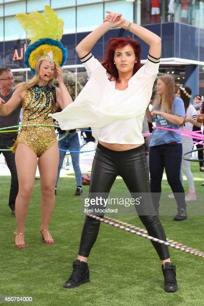 Amy Childs attends a photocall to launch the Big Dance class at Westfield Stratford City on June 17 2014 in London England