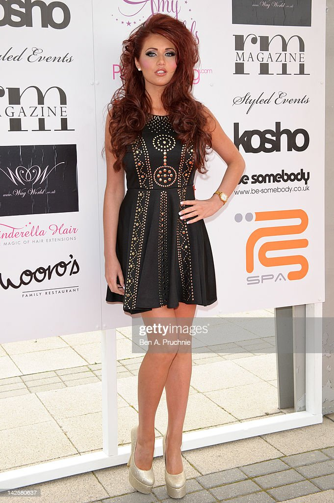 Amy Childs attends Essex Fashion Week - Autumn/Winter 2012 at Ceme on April 8, 2012 in Rainham, Greater London.